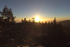 Puesta de sol en el Teide